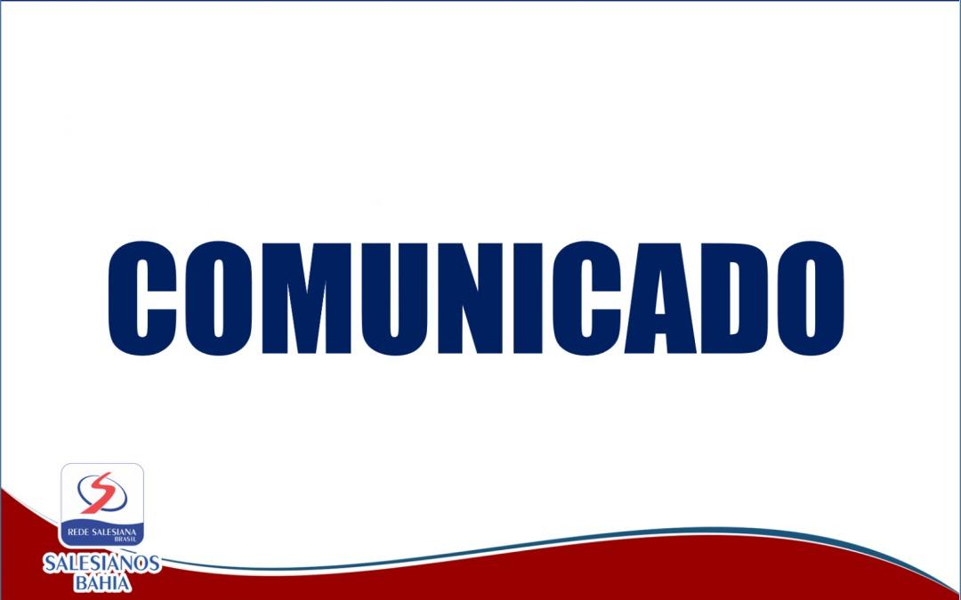 COMUNICADO – FUNCIONAMENTO DAS ATIVIDADES