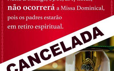 Comunicado cancelamento