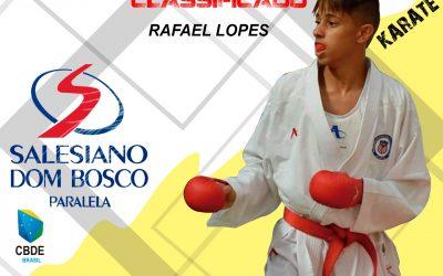 Rafael Lopes, aluno SDB, é campeão estadual de Karatê