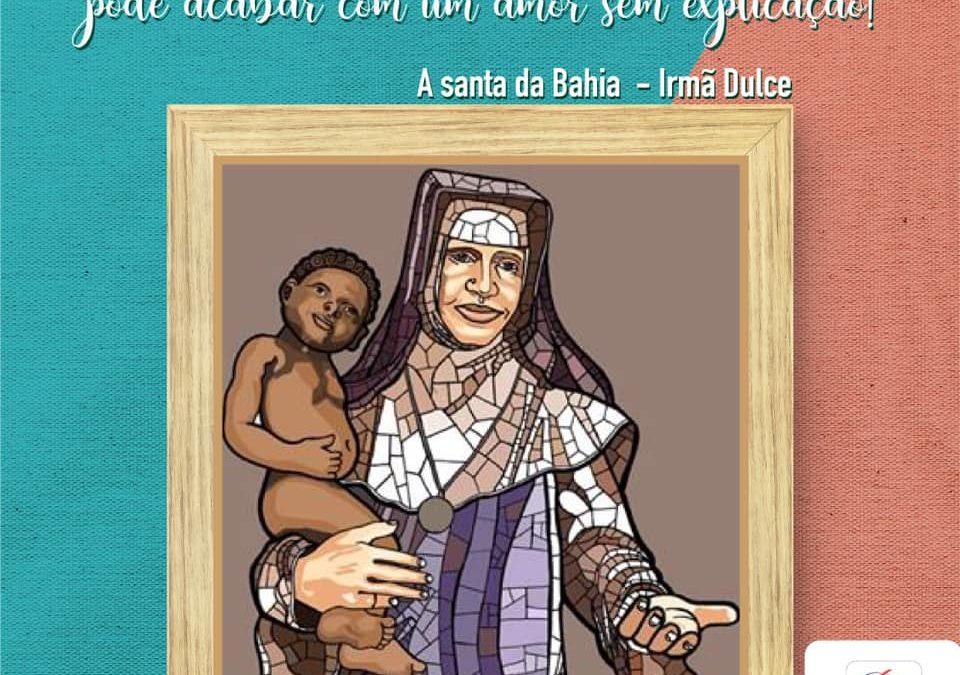 A alegria da primeira santa baiana