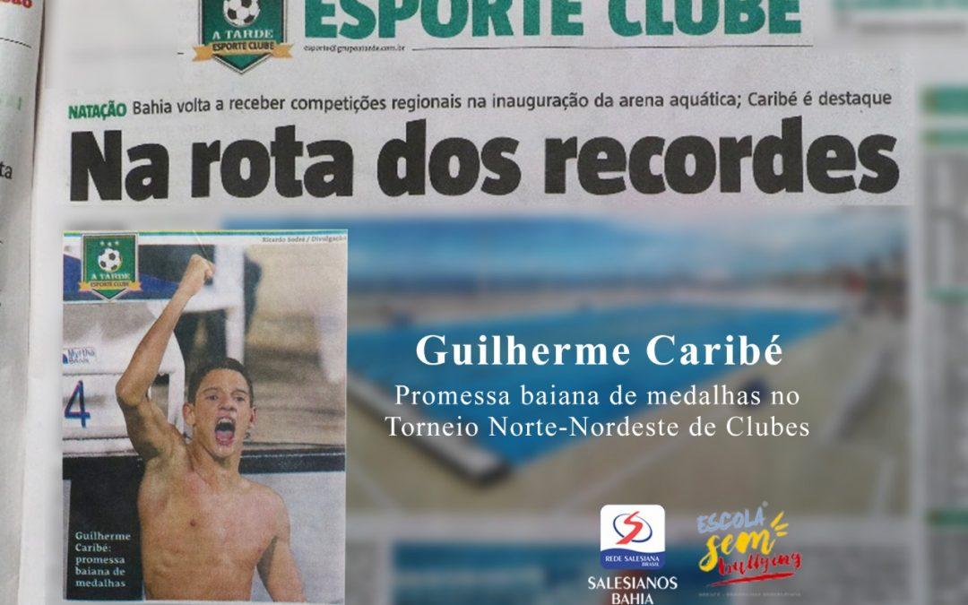Guilherme Caribé, aluno Salesiano Dom Bosco, na capa do Jornal A Tarde