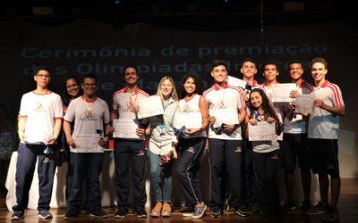 Educandos medalhistas da Olimpíada Brasileira de Astronomia e Astronáutica