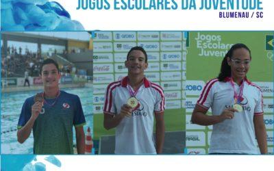 Os nadadores Salesianos Dom Bosco quebram recordes nos Jogos Escolares da Juventude