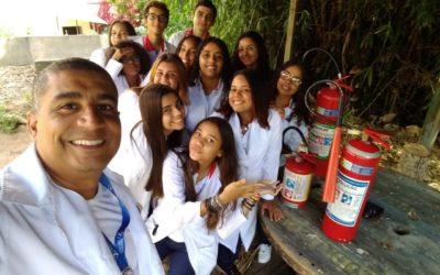 Aula de Química é fogo!