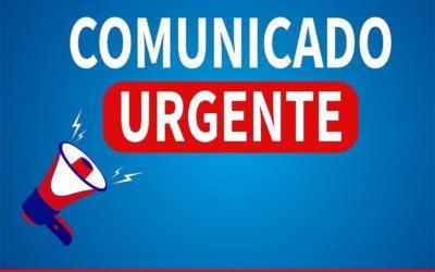 Comunicado Urgente: Suspensão das atividades