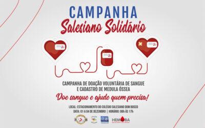 Salesianos Bahia participam de campanha de doação voluntária de sangue e cadastro de medula óssea em parceria com o Hemoba